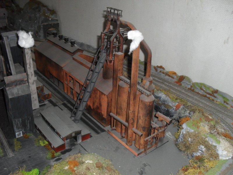 Le site mis en place de la fabrique de fer échelle 1/160