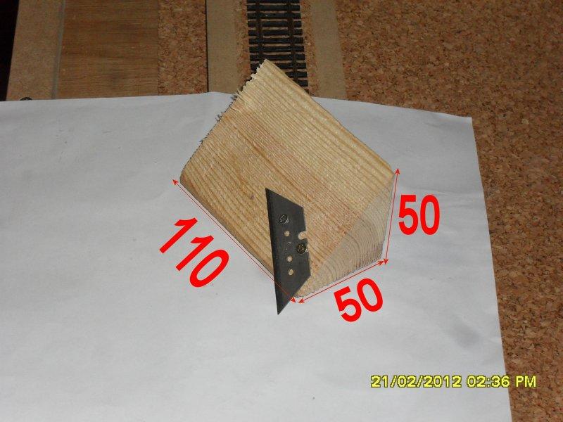 Dimensions de l'outil de coupe de la machine a découpé du liège