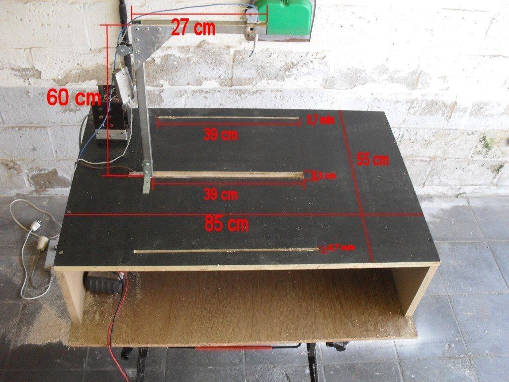 Dimensions de la table à découper du polystyrène