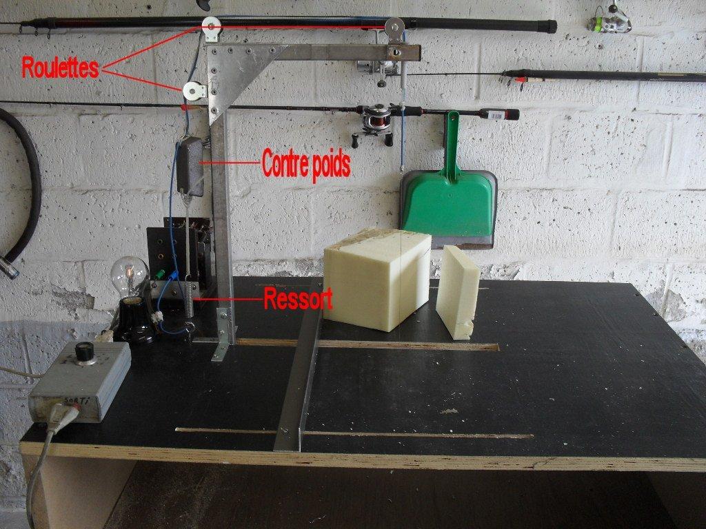 Système de tension mécanique du fil à découper du polystyrène