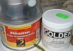 Les deux produits utilisés Réalisation d'une cascade et d'un cours d'eau.