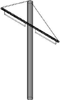 Poteau central de double voie Réalisation de poteaux et catenaires pour tramway
