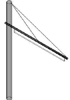 Poteau latéral de double voie Réalisation de poteaux et catenaires pour tramway